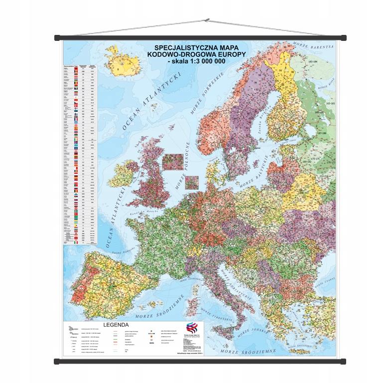 Item Suchościeralna Mapa Europy kodowo-drogowa *