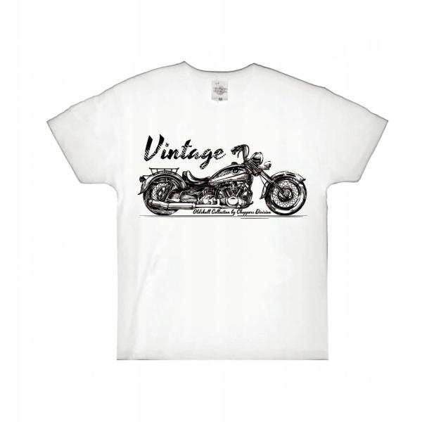 T-shirt špeciálne oblečenie pre motocyklistov oblečenie vintage white 3-4