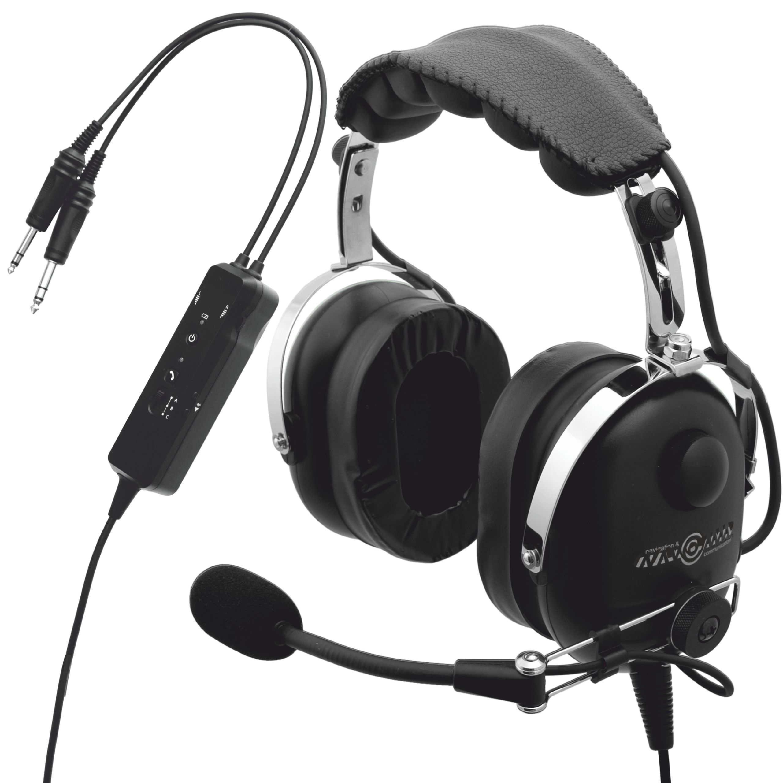 Letecké slúchadlá, Bluetooth + ANR, NAVCOMM IN
