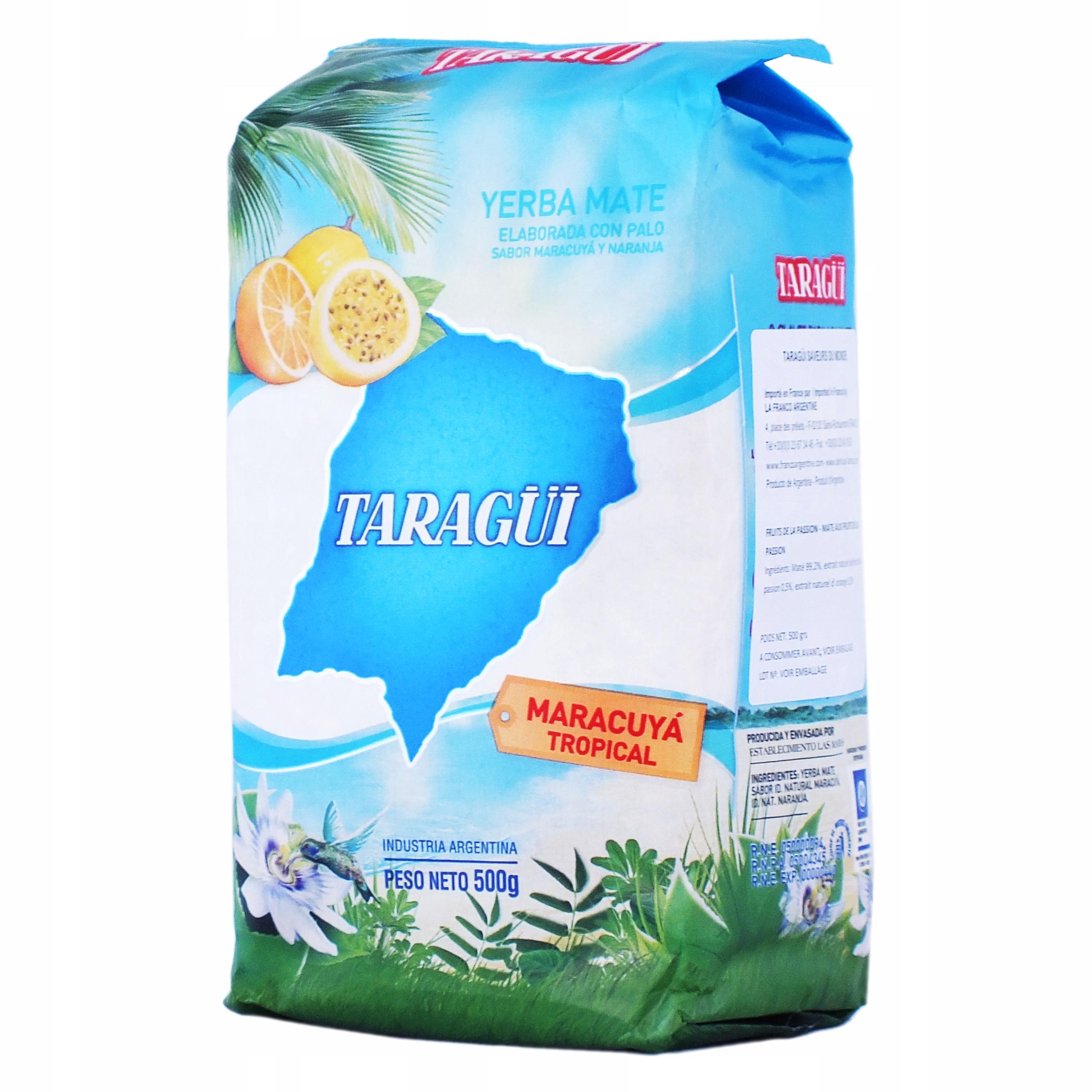 Item Yerba Mate TARAGUI Maracuya Tropical 500 g 0.5 kg