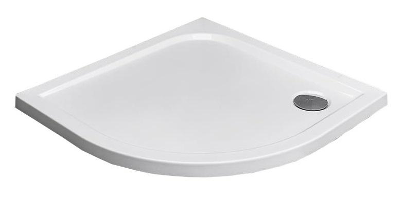 RADAWAY Polkruhová sprchová vanička Delos A dlaždice 90x90