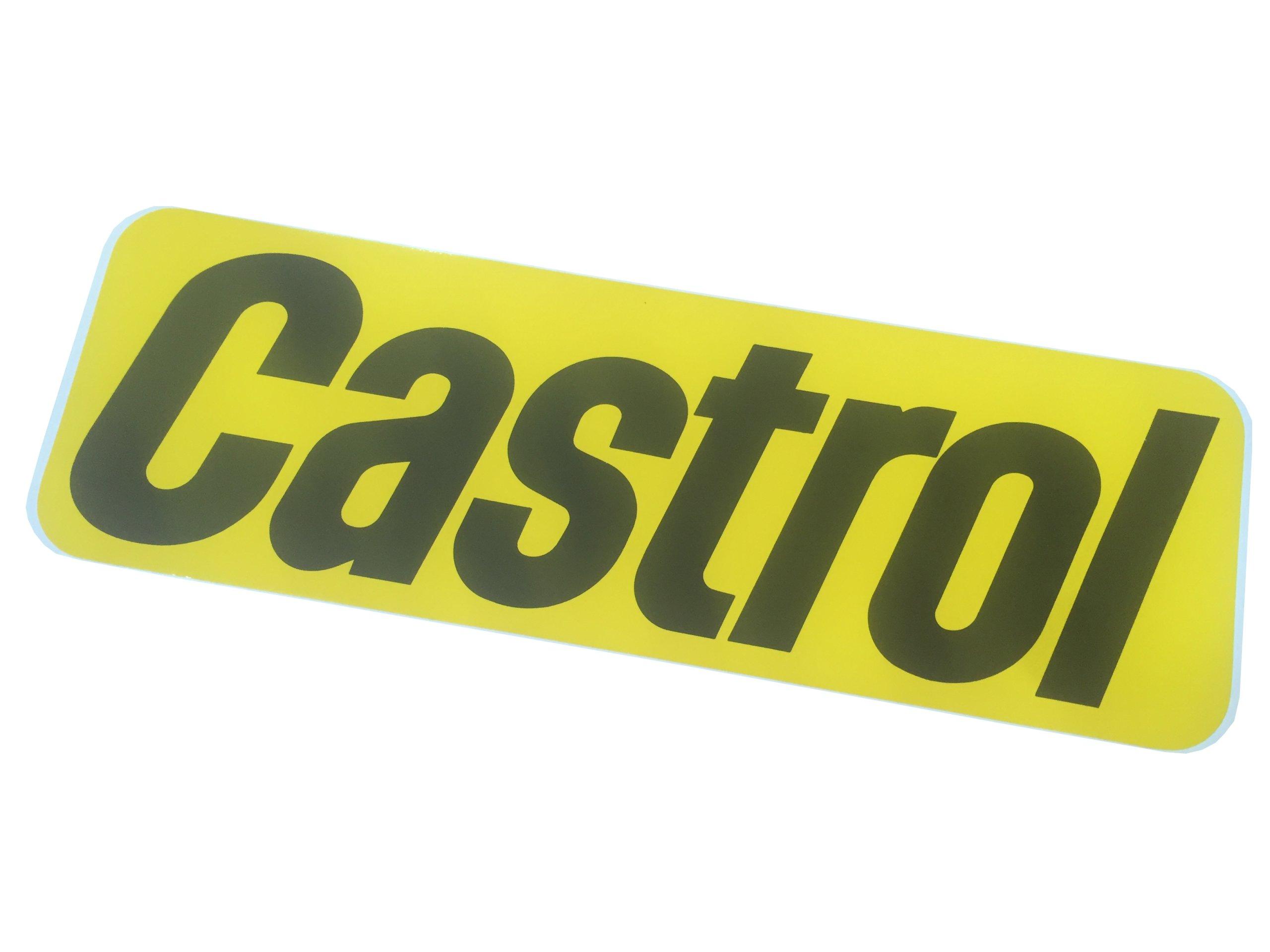 Veľké Nálepky CASTROL Retro Vintage 37x12 cm