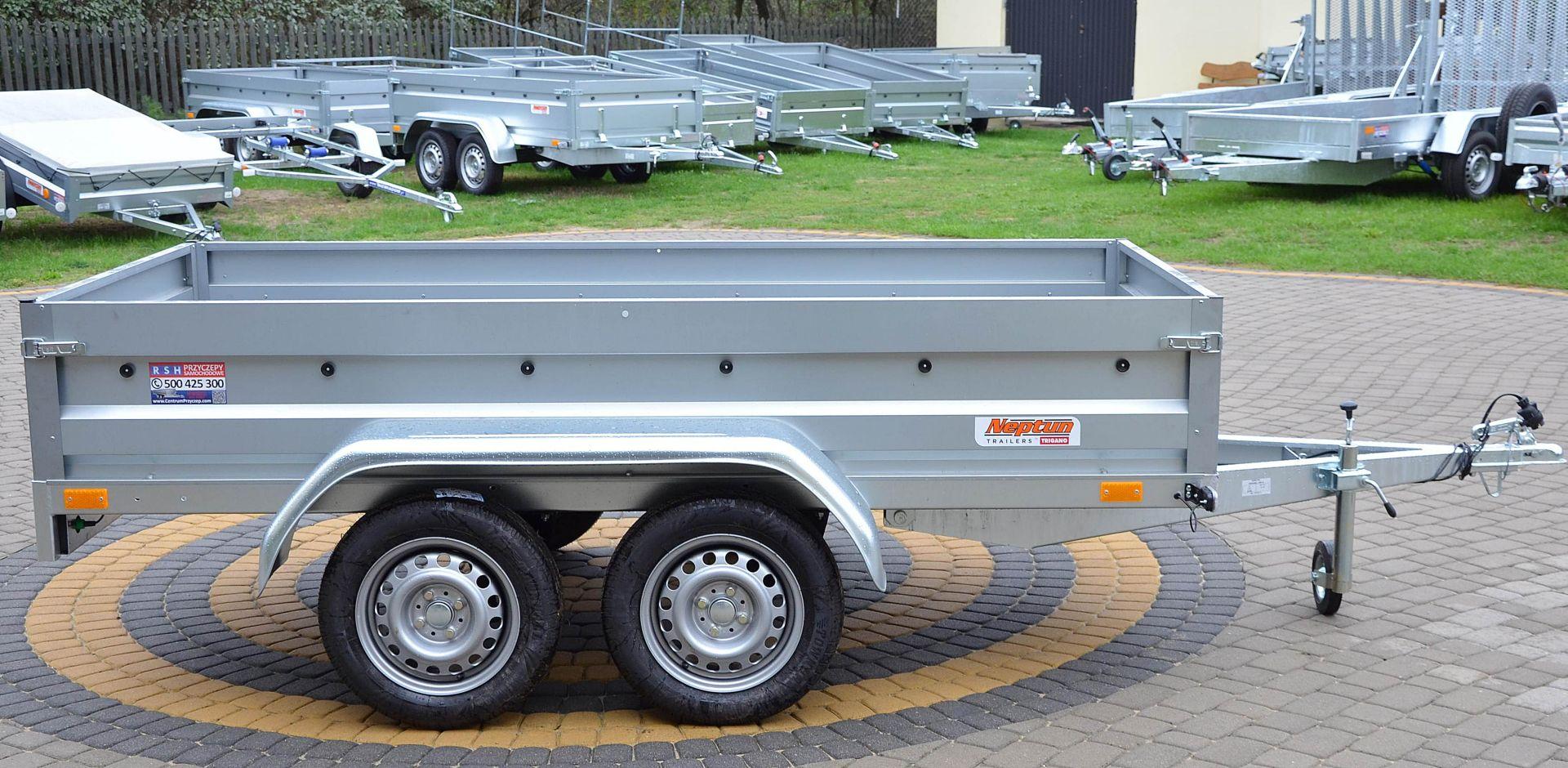 Прицеп Автомобильный 263x129 Нептун ТАНДЕМ кат B доставка товаров из Польши и Allegro на русском