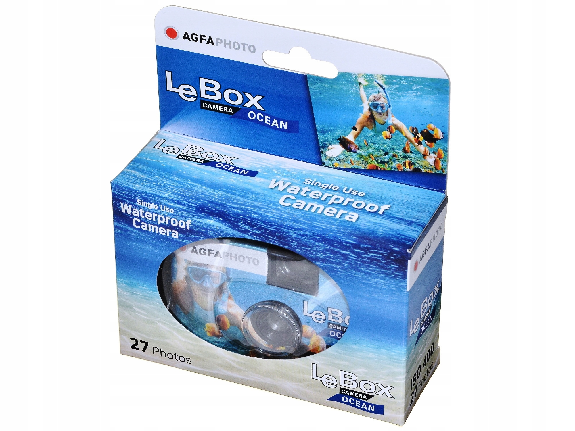 Item A disposable camera Agfa LeBox Ocean 400 underwater