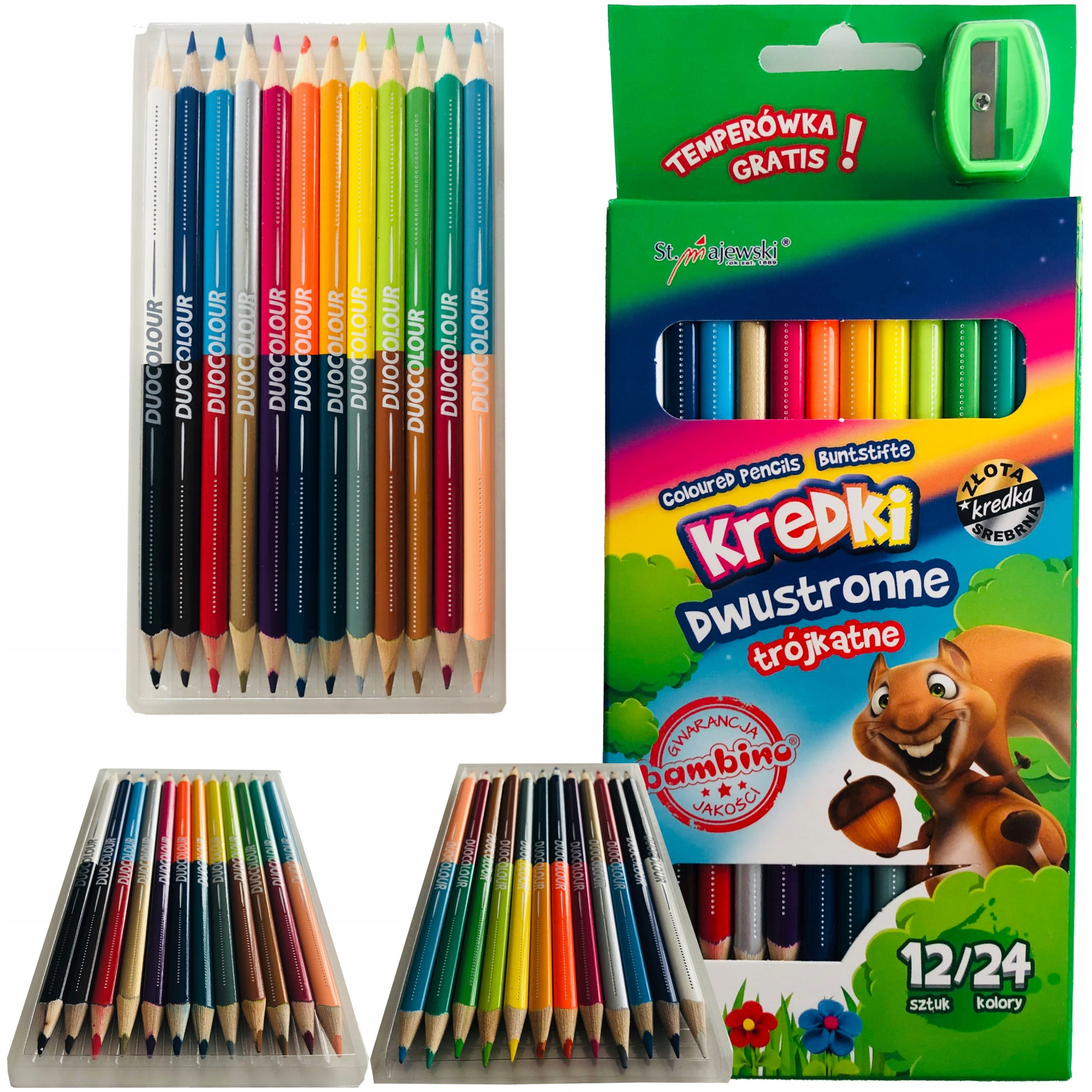 Item BAMBINO CRAYONS TRIANGULAR DOUBLE-SIDED 12/24 COLORS