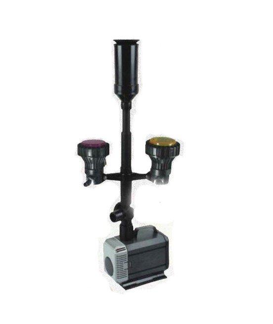 Pompa fontannowa 4500l/h + kaskada+oświetlenie