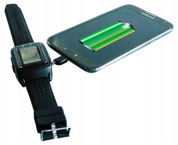 PowerbankWatch hodinky solárne USB powerbank