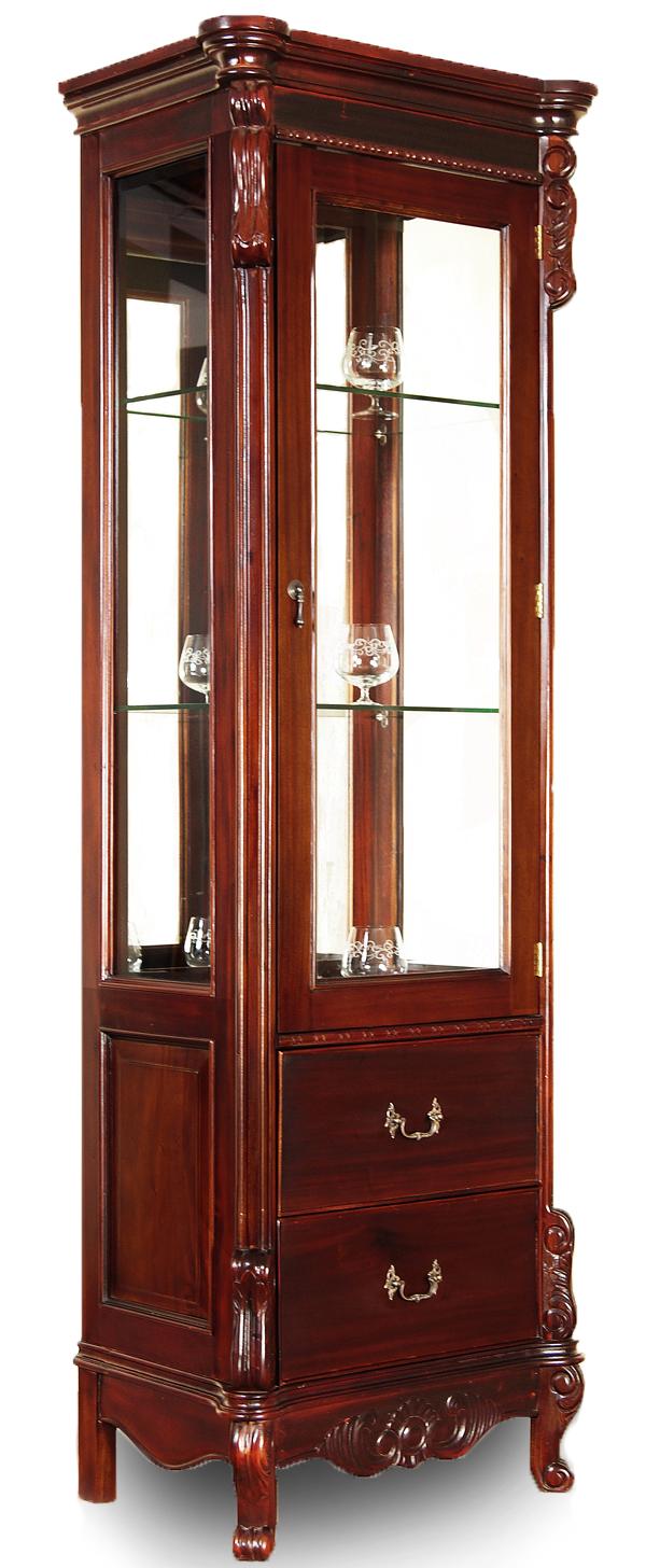 СТИЛЬНАЯ витрина продемонстрированы Бидермейер красное дерево 78271
