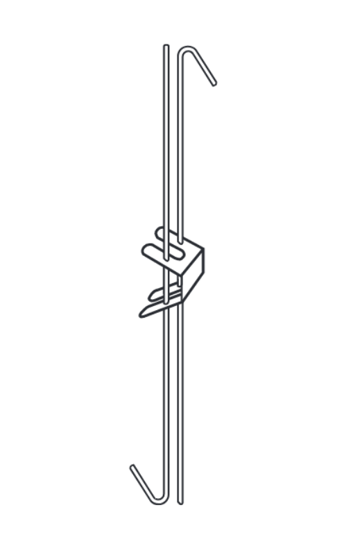 Вешалка крючок двойной 215мм (BPA11020G) Армстронг 100шт.