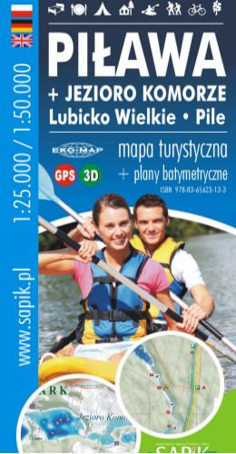 Turistická mapa mesta Piława Chamber Pile Lubicko 1232