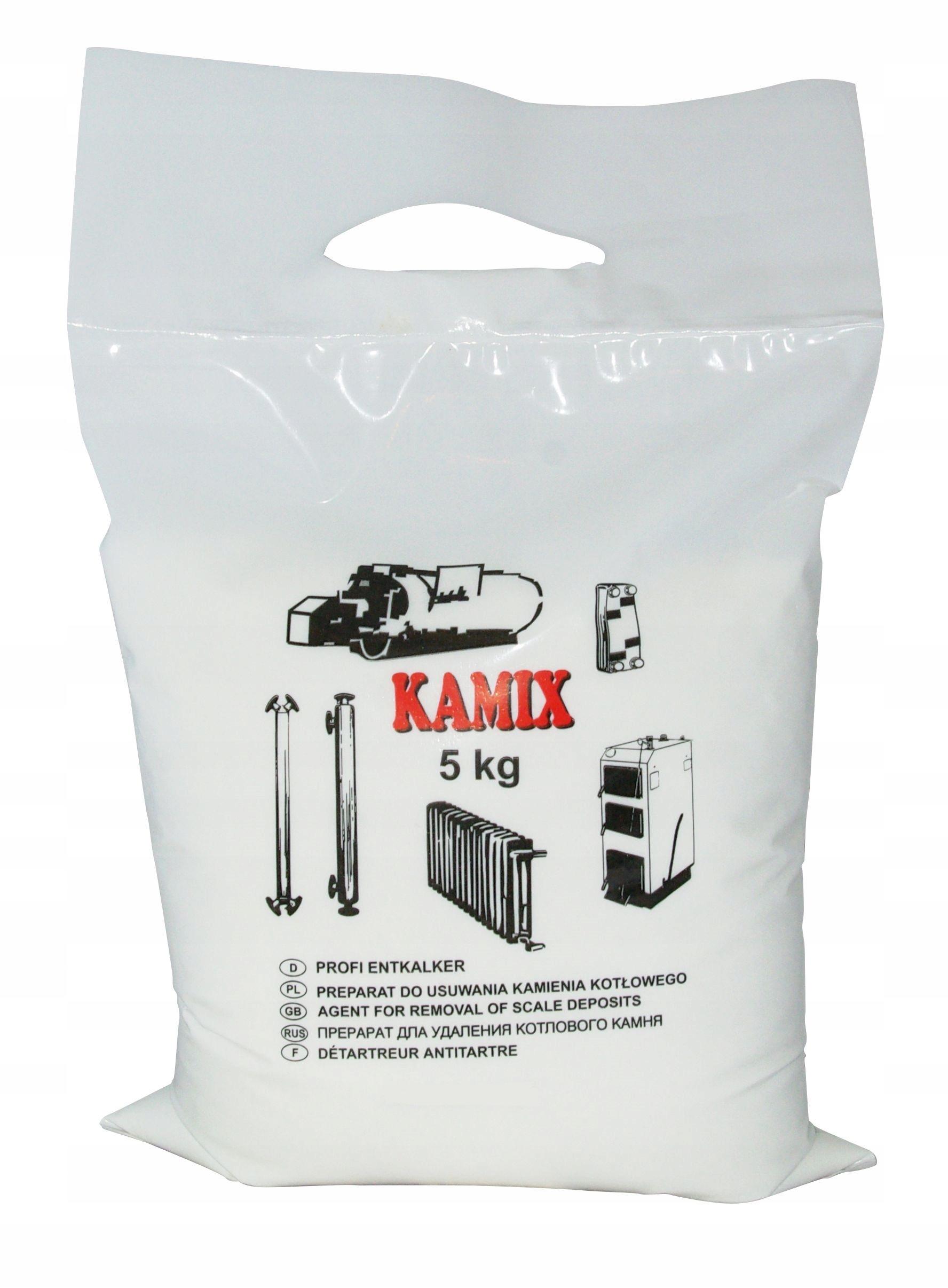 KAMIX do instalacji 5kg - skuteczny odkamieniacz