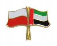 Купить Застежка pin wpinka флаг ПОЛЬША-объединенные Арабские Эмираты на Otpravka - цены и фото - доставка из Польши и стран Европы в Украину.