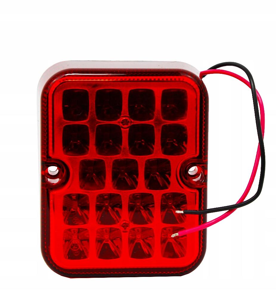 лампа мост led красная 12v противотуманная фара e4