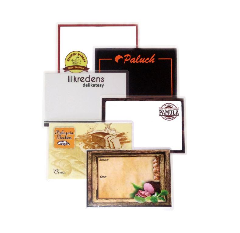 Cenové značky, štítky s logom + projekt! 200 ks- 65x95mm