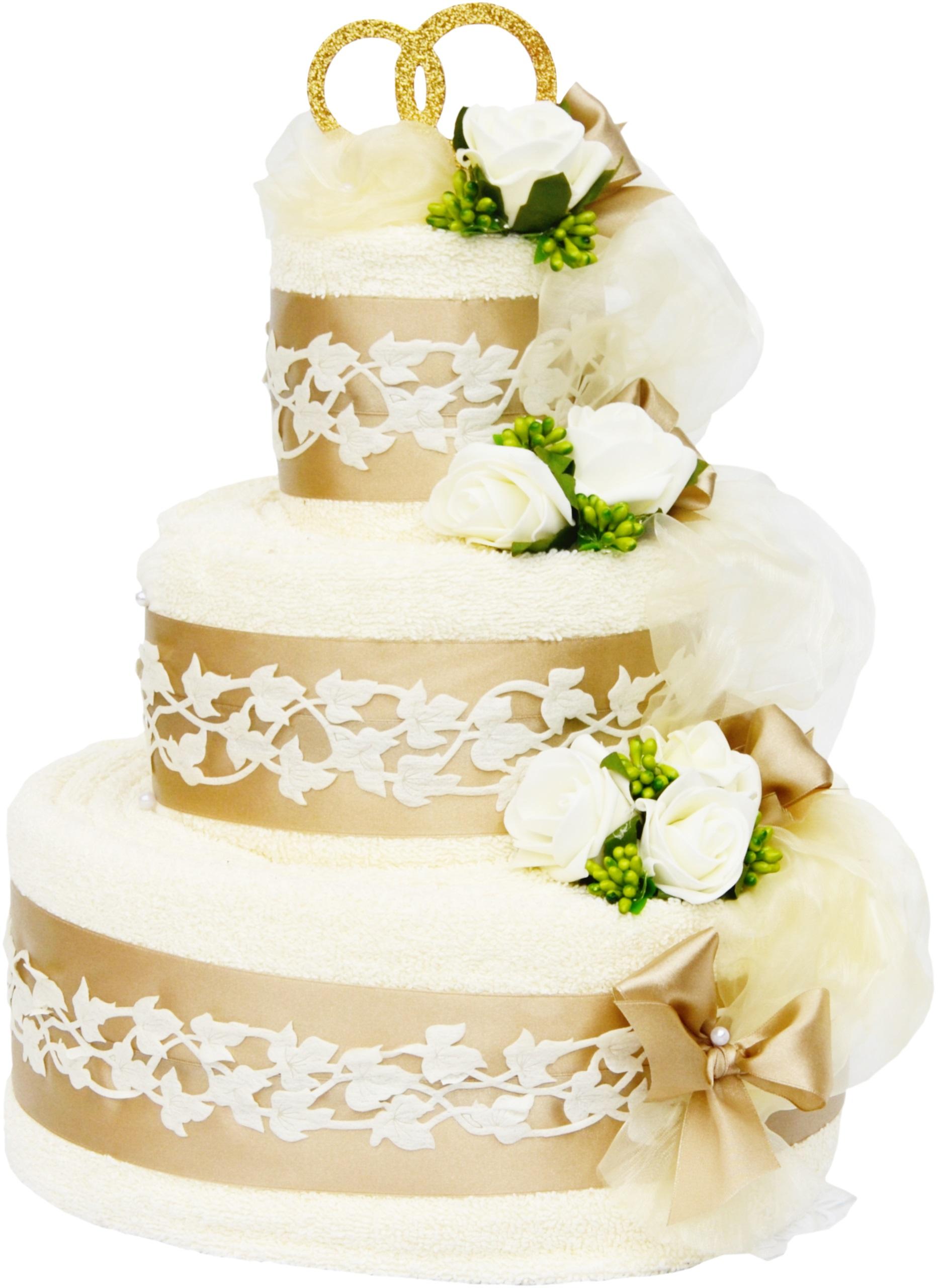 Торт из 4 ТОЛСТЫХ полотенец, ПОДАРОК на свадьбу, СВАДЕБНЫЙ