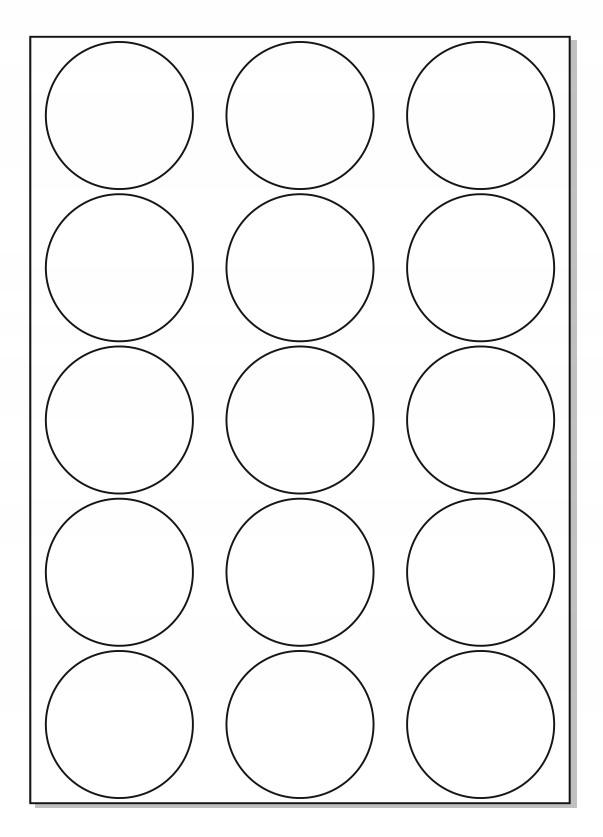 Nálepky FI 57 Štítky A4 Štítky Round Circle / 10
