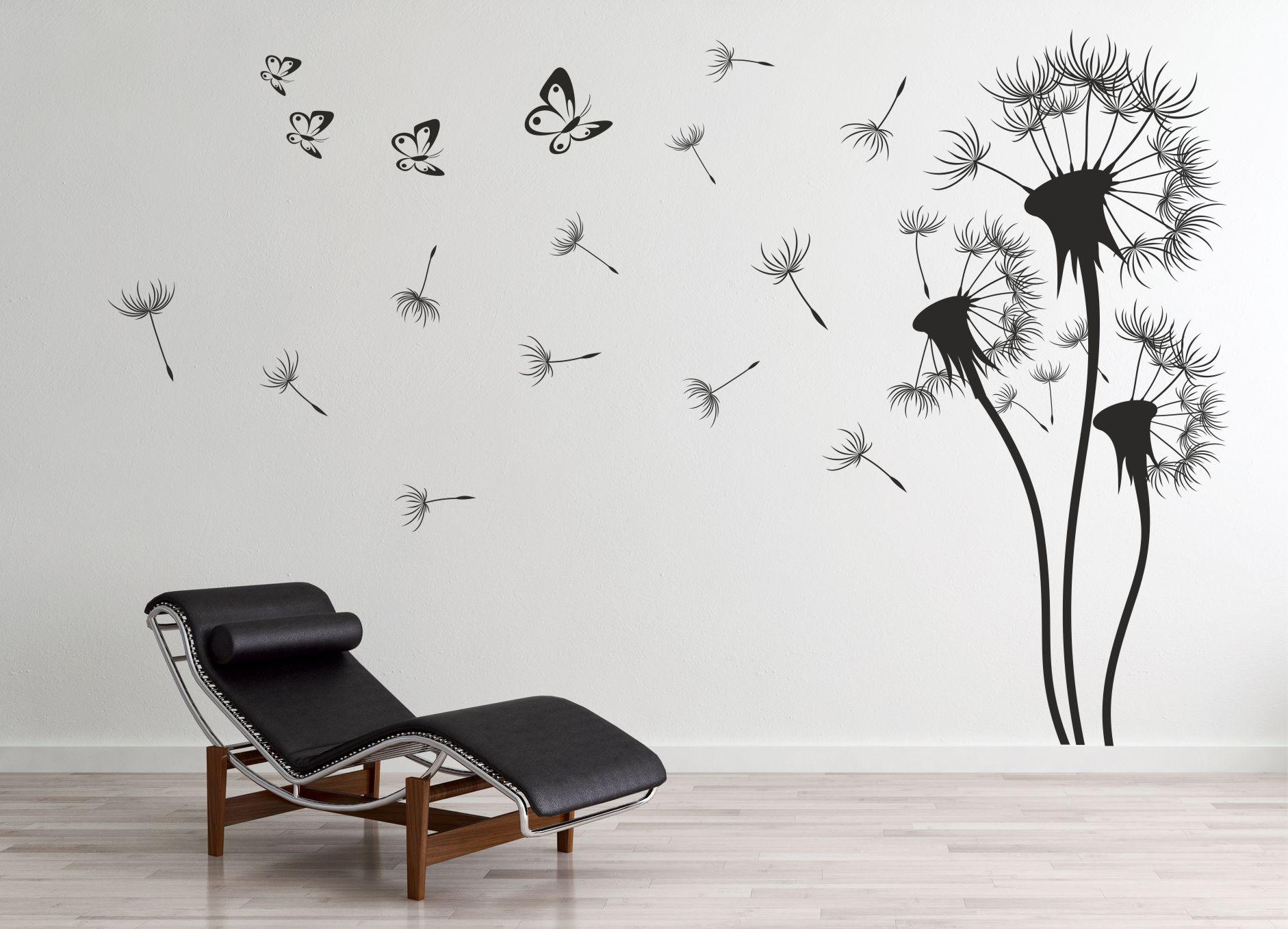 под деревом рисунки черно белые на стене в квартире своими руками фото полные модели