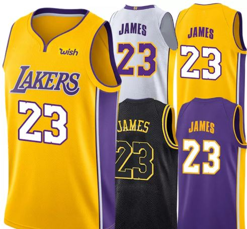 T-shirt NBA Jersey # 23 LeBron LAKERS, XL