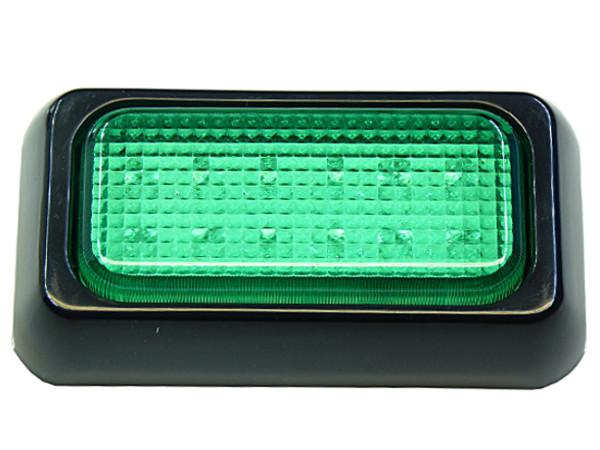 LAMP 12 LED signalizácia zelená 12V 24V 10x6cm