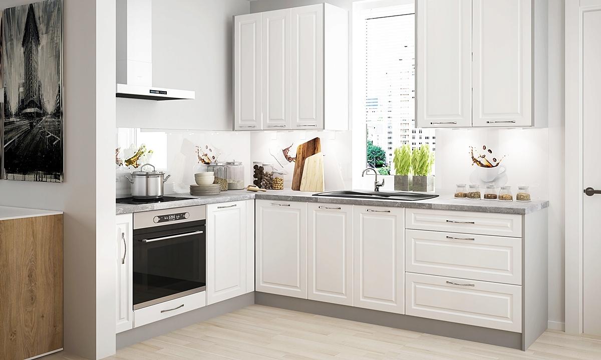 Белые кухонные гарнитуры фото