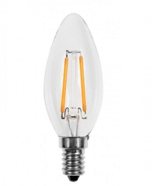 LED sviečka žiarovka E14 2W Vintage Retro Tepla
