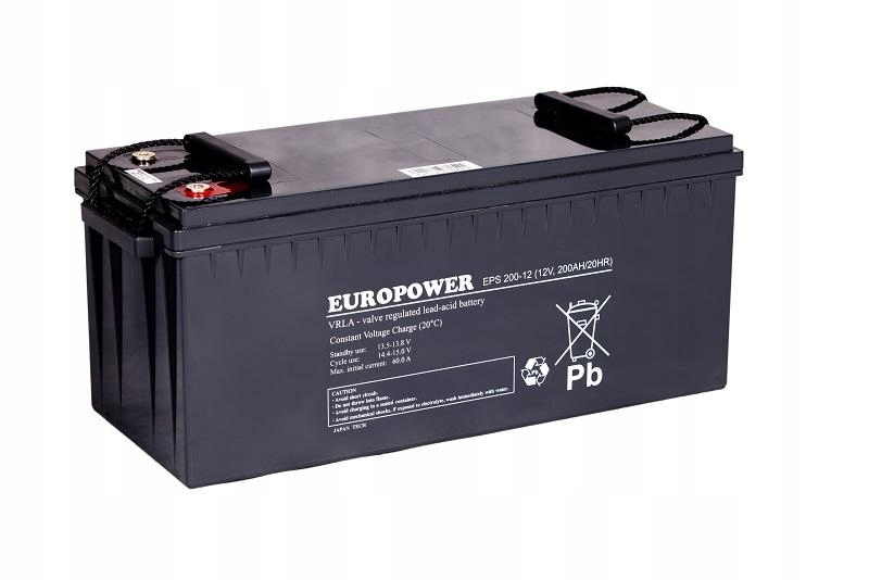 Picture of 200Ah/12V EPS200-12 EUROPOWER recurring battery
