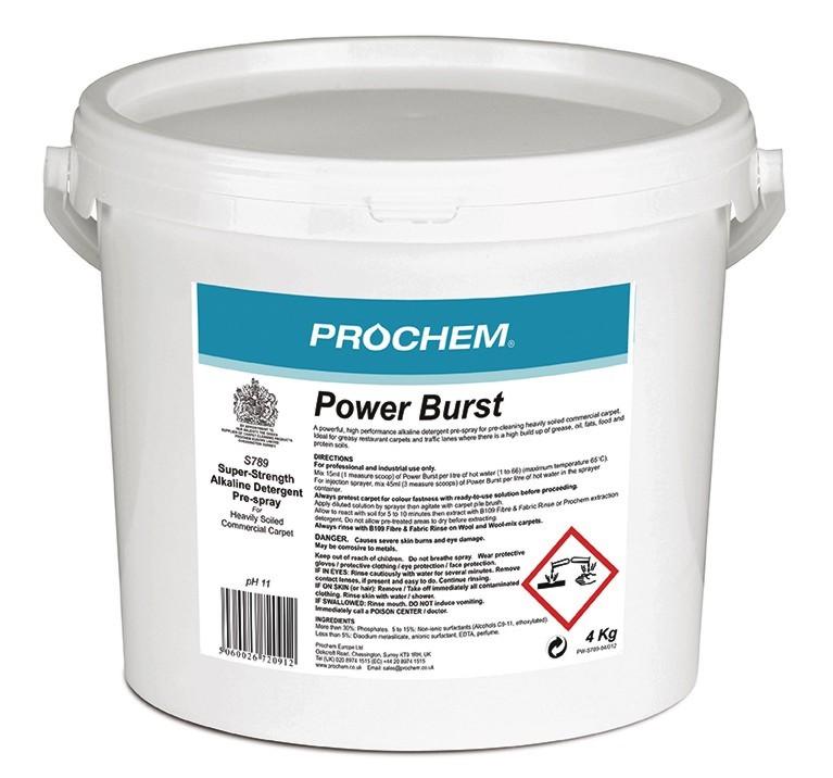 Прах Power Burst S789 4кг порошок для ковров