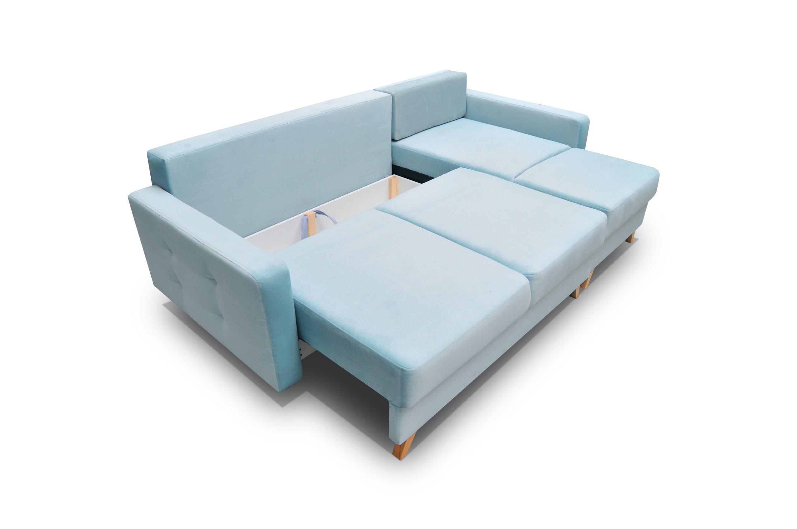 Skandinavische Zimmerecke VEGAS / Farben! R / L Die Tiefe der Möbel 151 cm