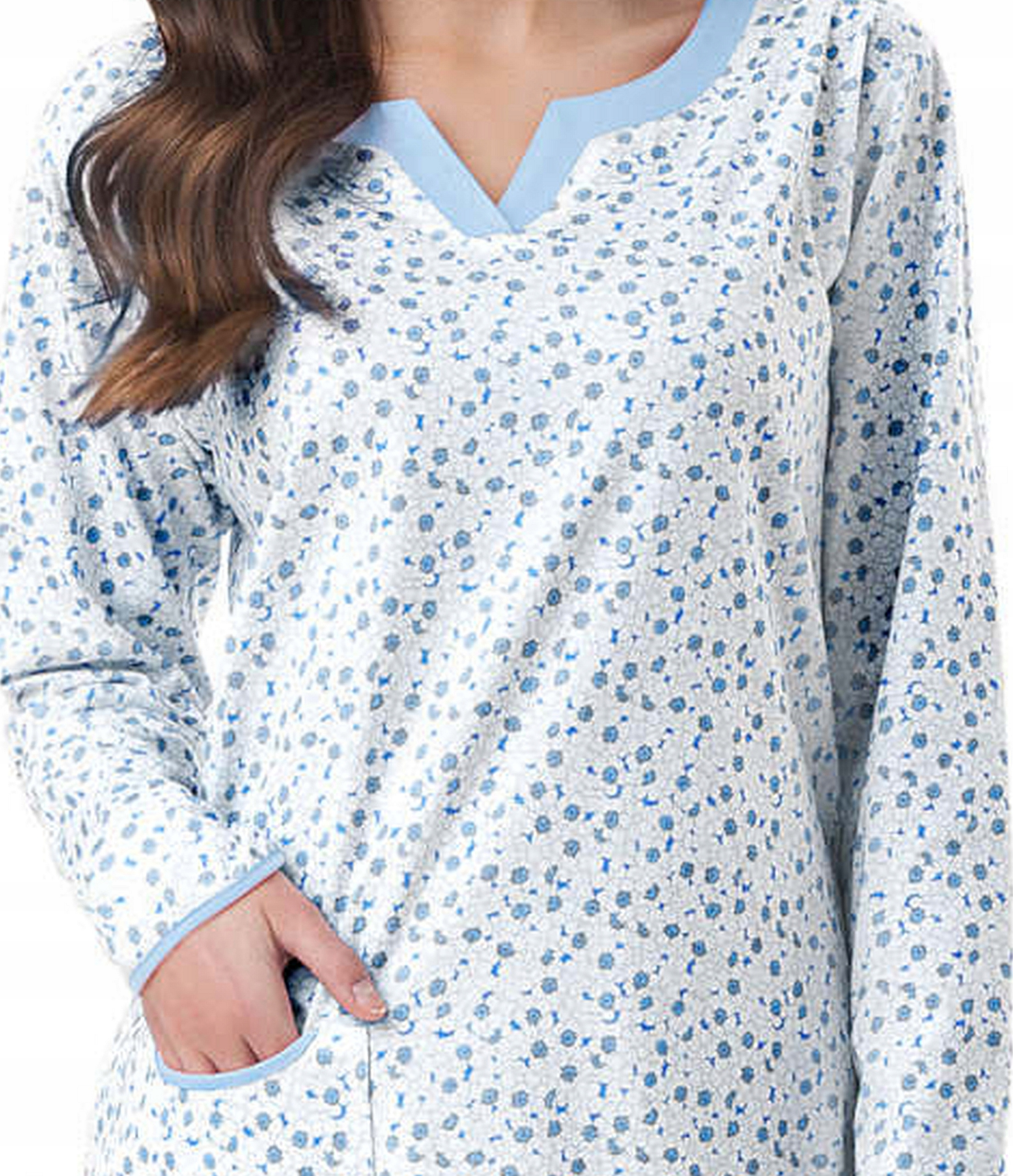 Koszula damska Luna 006 XL k.niebieski dł.rękaw 8610006927