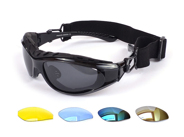 Okuliare okuliarov pre motor na bicykli UV400 + vymeniteľné okuliare