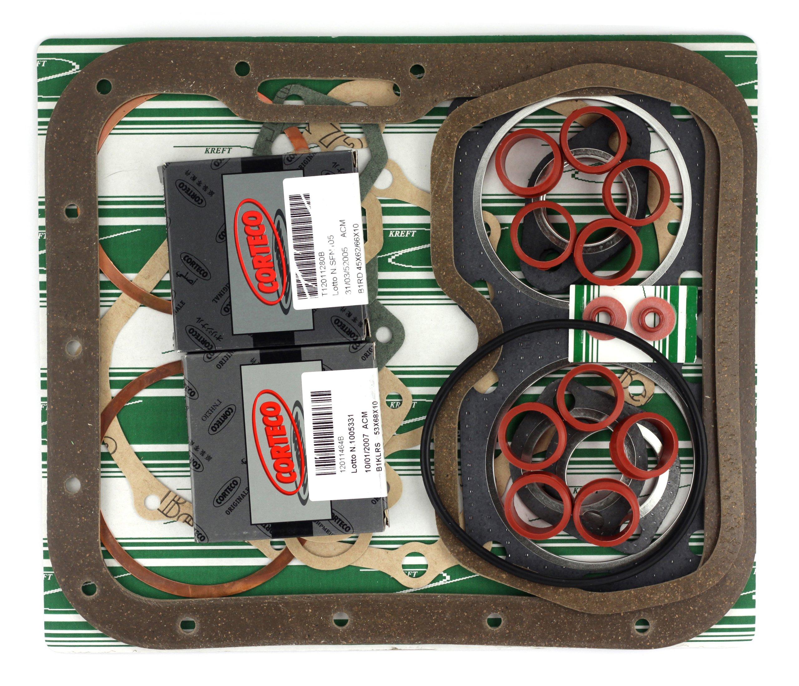 прокладки двигателя комплект fiat 126p 650 corteco