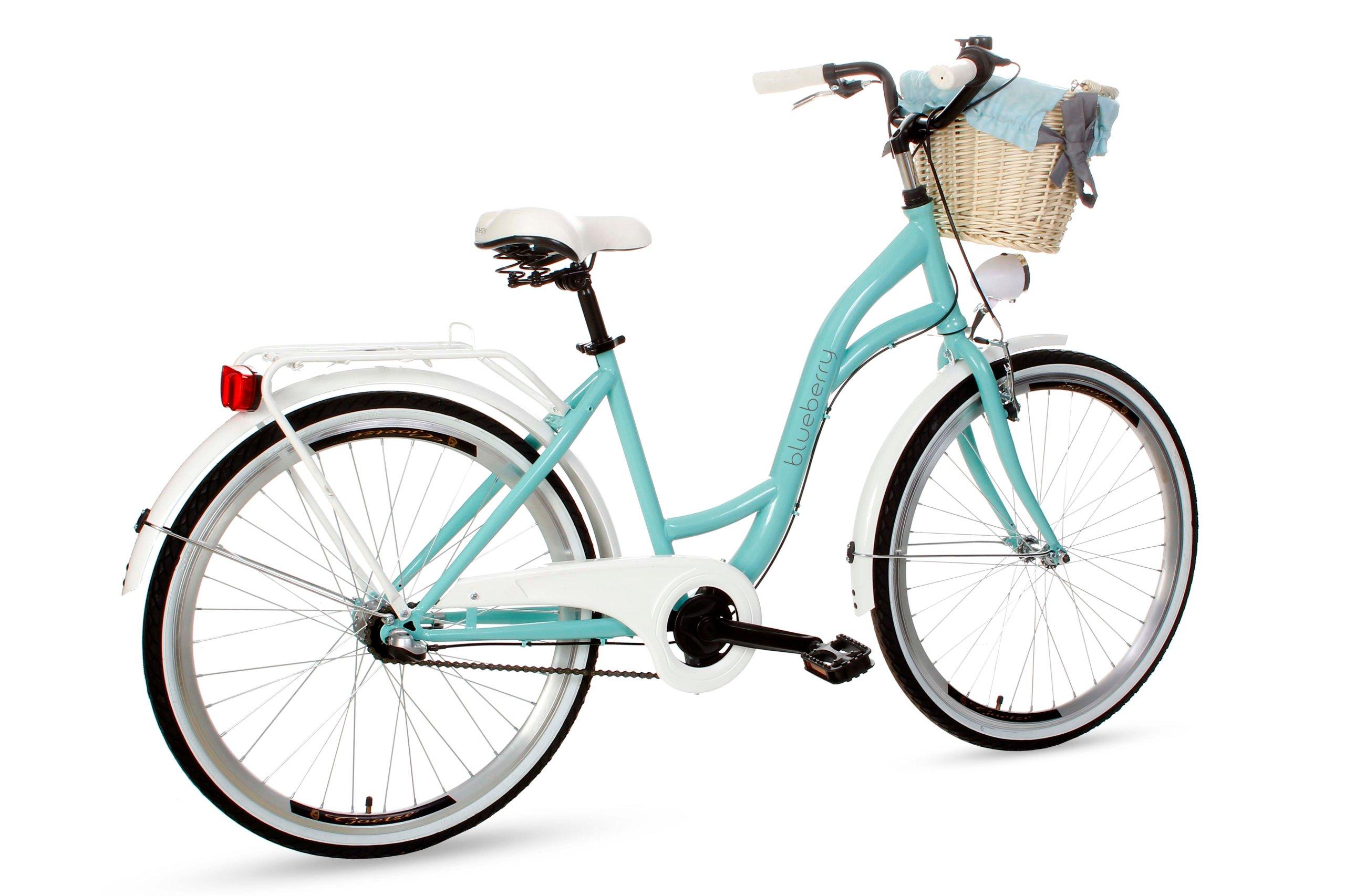 Dámsky mestský bicykel Goetze BLUEBERRY 26 3b košík!  Čučoriedkový model