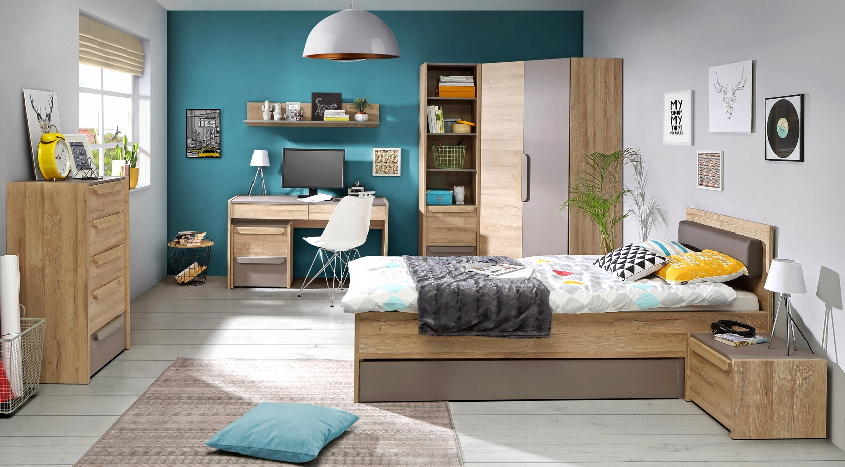 FORTE MALACCA nábytok, 1 šatník rohu