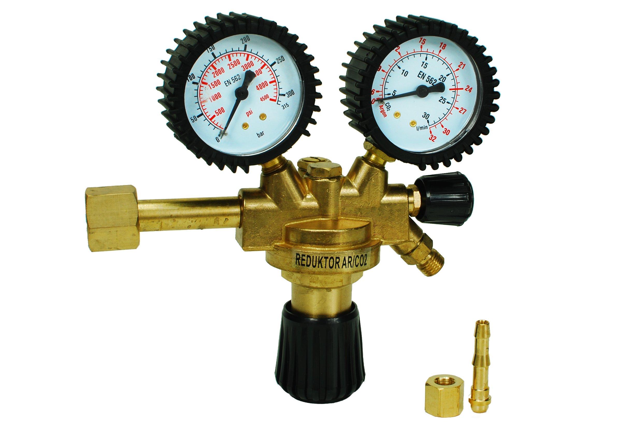 Redukcia Argón-CO2, dve ventil pre mig a tig volfrámu