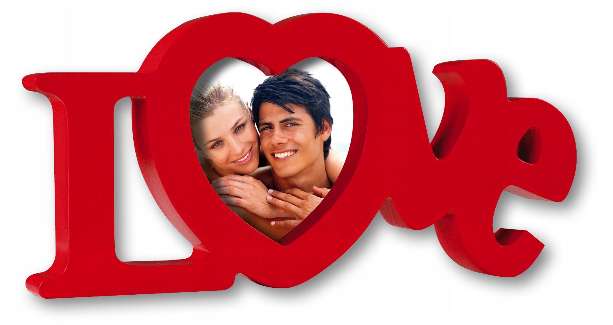Рамка в любви сердечко LOVE красный День святого Валентина