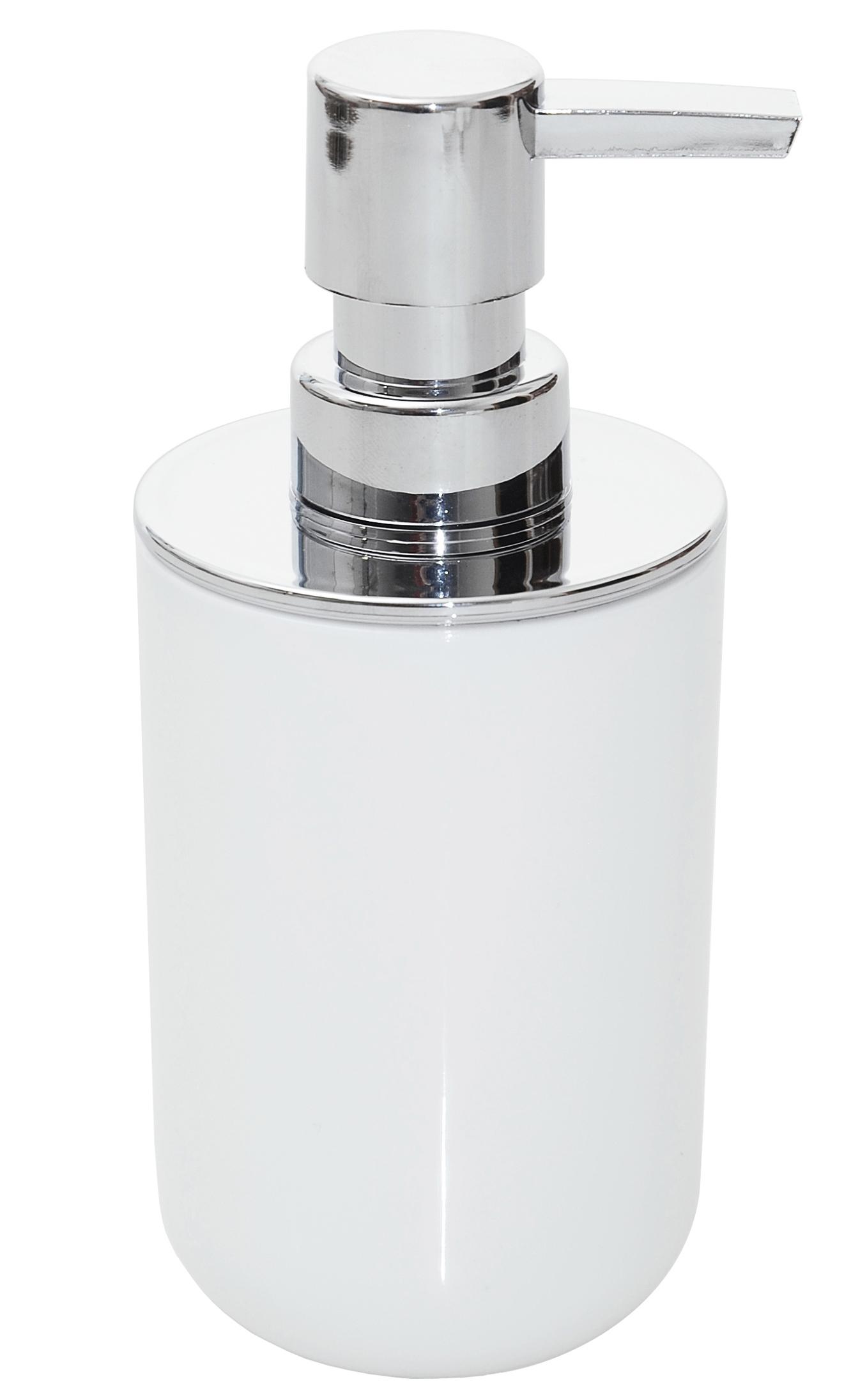 Kúpeľňový dávkovač pre podávač mydlu biela hladká
