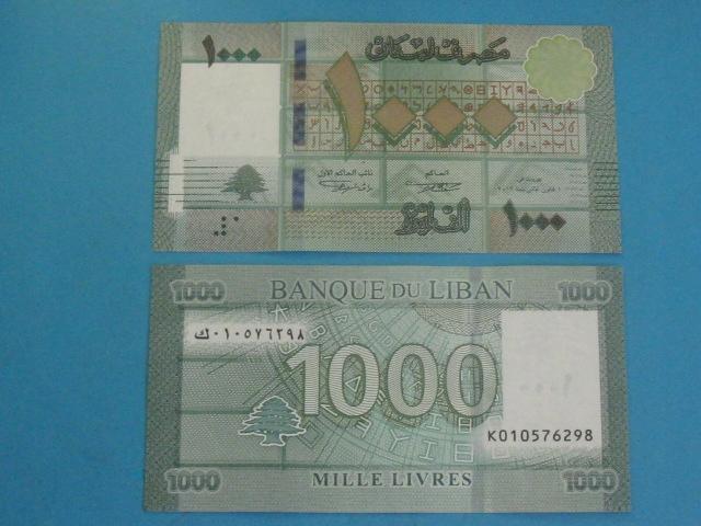 Liban Banknot 1000 Livres P-90 UNC 2016