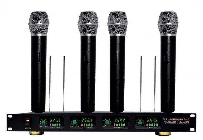 Profesionálne bezdrôtové mikrofóny 4 položky Hq