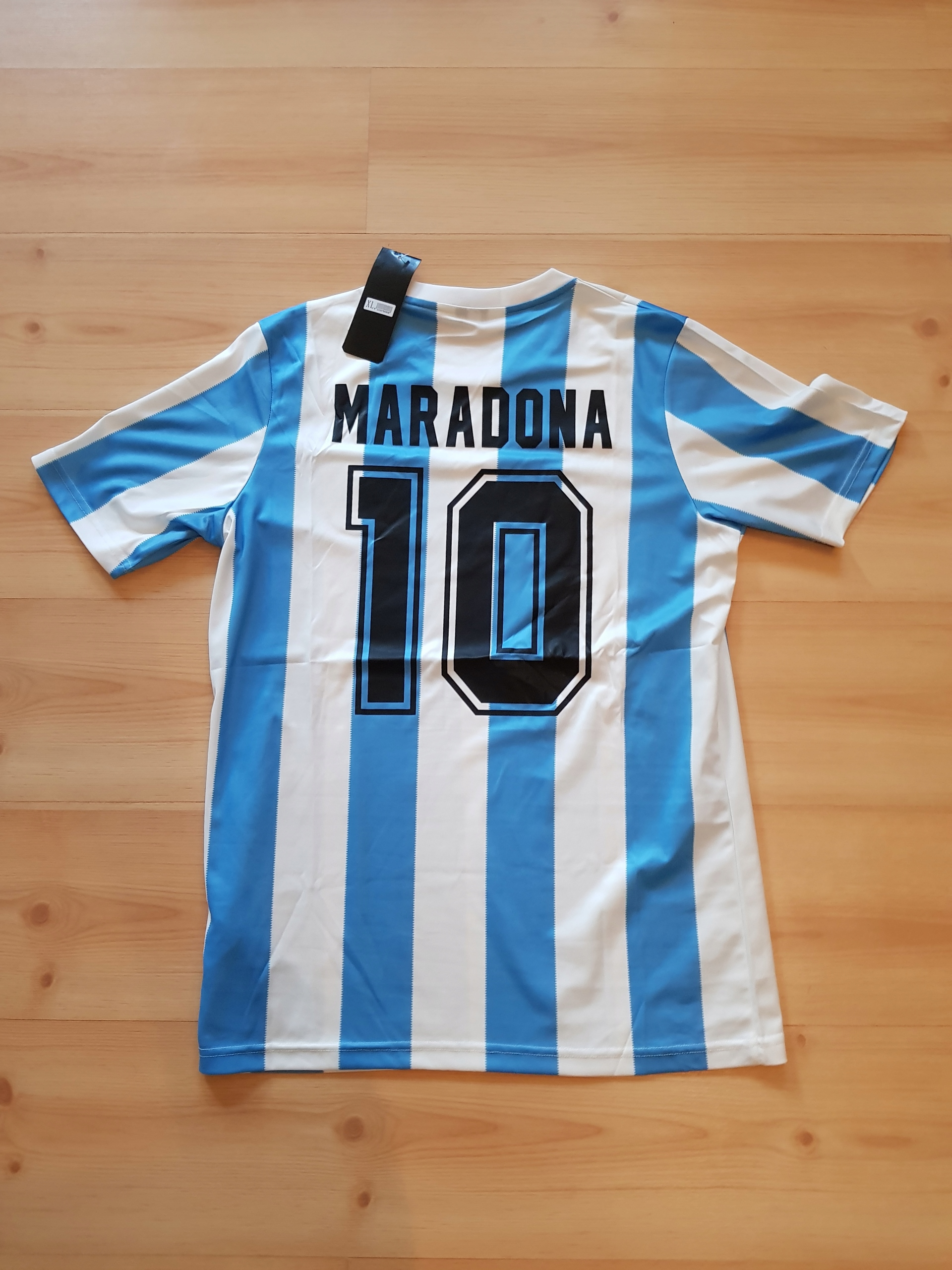 Maradona 10 Argentína 1986 tričko Retro replika