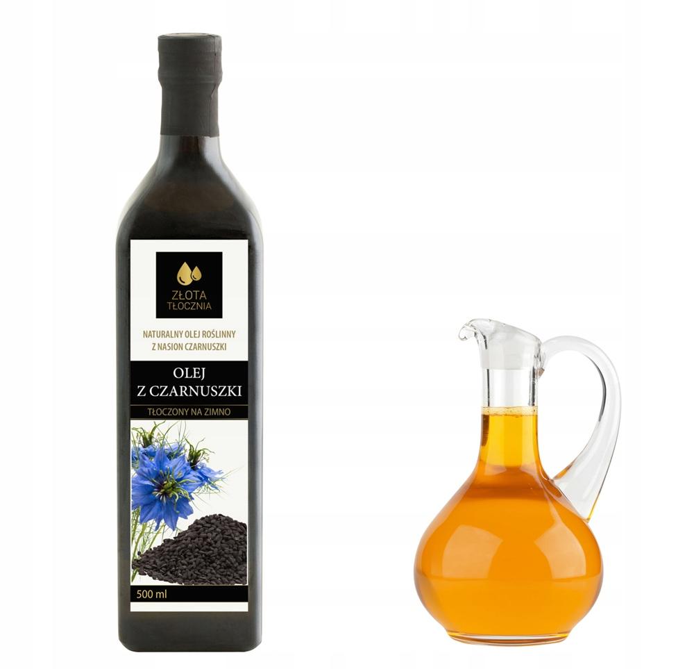 Olej z czarnuszki 500ml zimnotłoczony 100% świeży