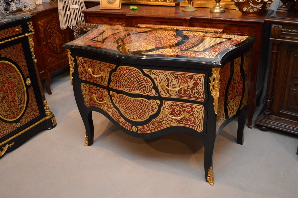 Item ROYAL CHEST OF DRAWERS - BOULLE - NUMBER 1 ON ALLEGRO !!!