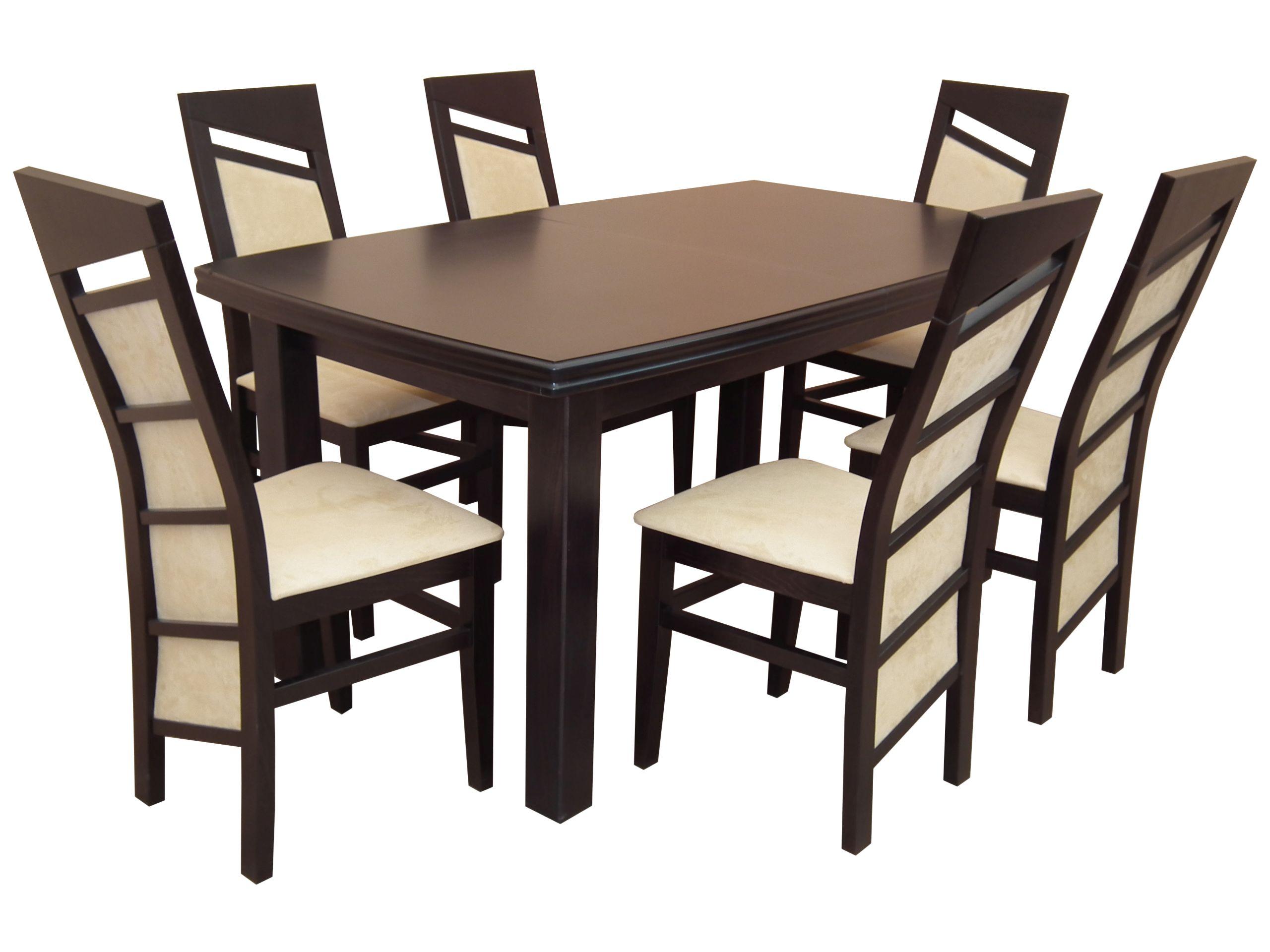 Jedáleň nastaviť tabuľka 90x160/200 + 6 stoličiek