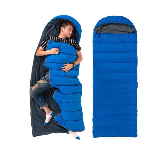 Спальный мешок 2in1 туристический теплый капот одеяло