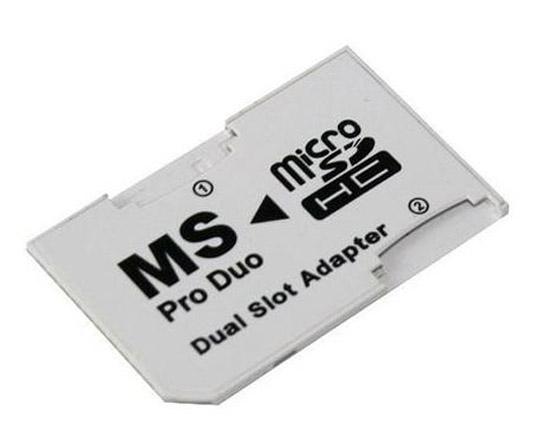 Adaptér 2x microSD na MS Product Pro Duo Dual