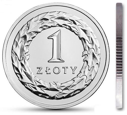 Монета 1 злотый 2020 монетный двор из мешка