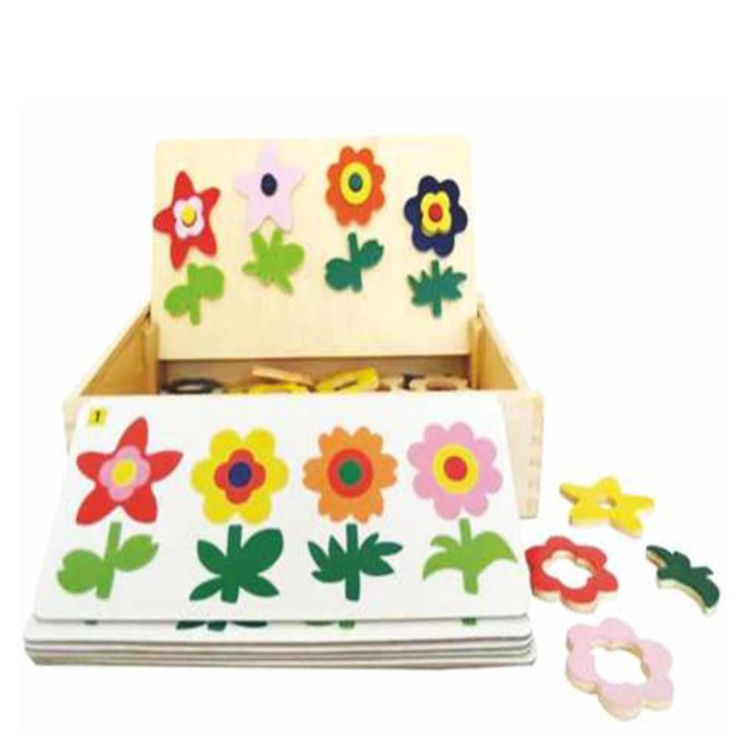 Puzzle drevené tvorivé Kvet