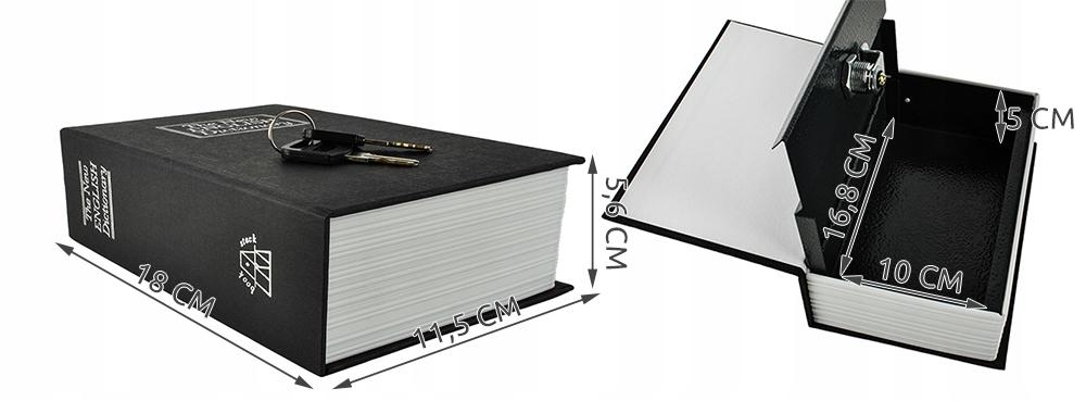 сейф металлическая шкатулка книга на деньги ключи