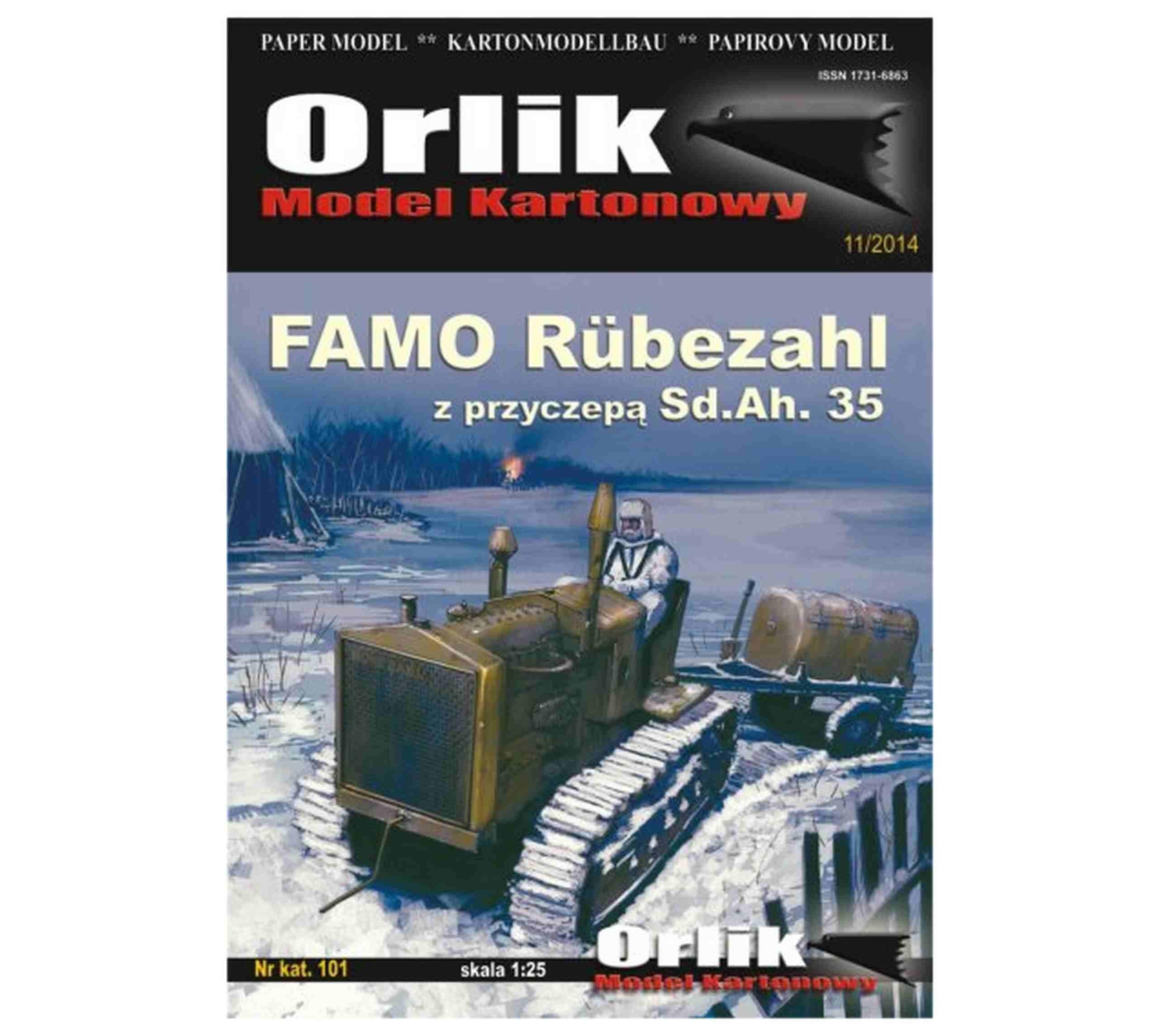 Orlik 101 Famo Rubezahl s prívesom SD.AH. 35 1:25