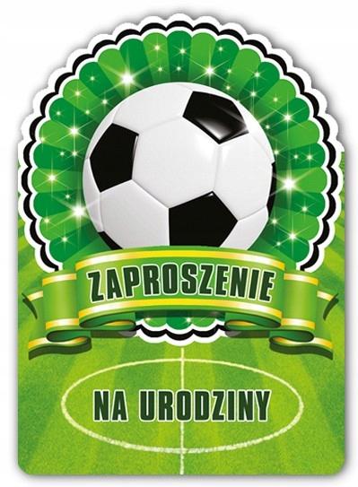 Pozvánka loptu na futbalové narodeniny s obálkou