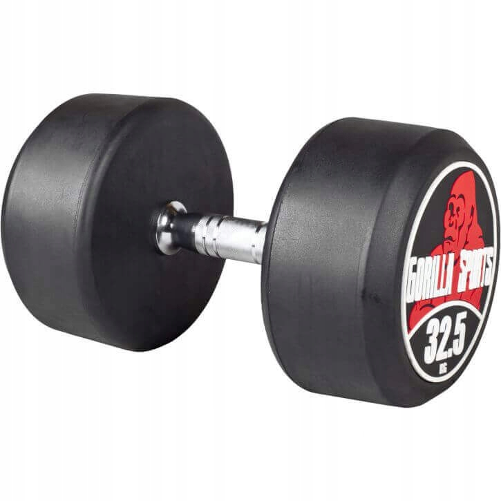 Dumbbell 32,5 kg trvalý profesionálny gumový liatina